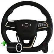 Volante Com Comando Chevrolet Nova Montana Pelicula Esportivo Corsa Classic Wind Premium Joy Max Celta Poliparts