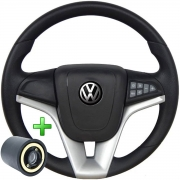 Volante Com Comando Volkswagen Cruze Pelicula Esportivo Cubo Golf Saveiro Fox Voyage Poliparts