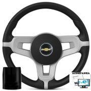 Volante Esportivo Mustang Corsa Celta Astra Monza Chevette Som10 Blazer Silverado Meriva Zafira Omega Kadett Opala Chevrolet + Cubo Gm