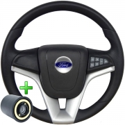 Volante Multifuncional Ford Cruze Pelicula Esportivo Cubo Fiesta Ka Ecosport Escort Hobby Zetec F100 F1000 Poliparts
