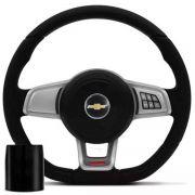 Volante Multifuncional Golf Gti Mk7 Corsa Celta Astra Monza Chevette Som10 Blazer Silverado Meriva Zafira Omega Kadett Opala Chevrolet + Cubo Gm