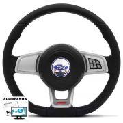 Volante Multifuncional Golf GTI Mk7 Ford Ka Fiesta Escort Zetec Hobby Pampa F100 F1000 F75 F250 Verona Del Rey Belina Ecosport Logus Acionador de Buzina + Cubo