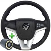 Volante Multifuncional Renault Cruze Pelicula Esportivo Cubo Sandero Clio Logan Megane Scenic Poliparts