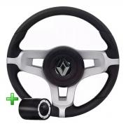 Volante Renault Mustang Esportivo Cubo Mustang Sandero Clio Logan Megane Senic Poliparts
