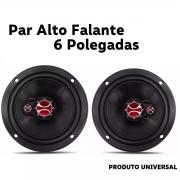 Alto Falante Foxer Triaxial Porta 6 Polegadas Som Automotivo 100 Watts Rms 4 Ohms Plug and Play Universal Poliparts