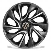 Jogo de Calotas Volkswagen DS4 Sport Grafite Aro 15 Universal Poliparts