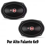 Alto Falante Foxer Triaxial  6x9 Polegadas Som Automotivo 140 Watts Rms 4 Ohms Plug and Play Universal Poliparts