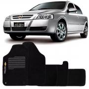 Tapete Carpete Chevrolet Astra 2003 a 2012 Preto Logo Bordado Personalizado Poliparts