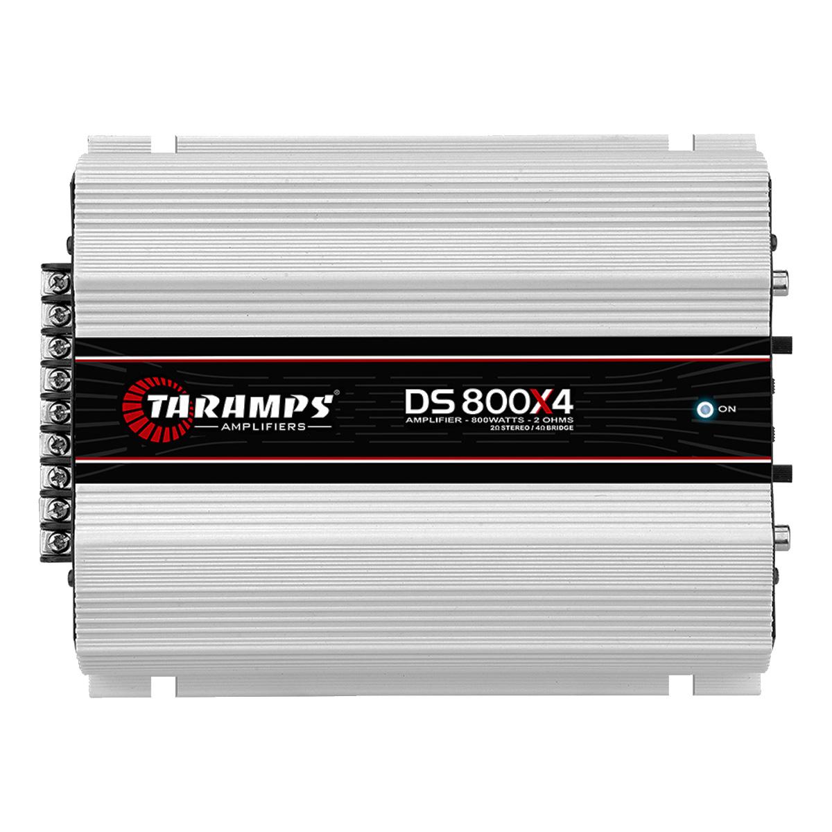 Amplificador Taramps DS-800x4 Som Automotivo 800 Watts Rms 2 Ohms Poliparts