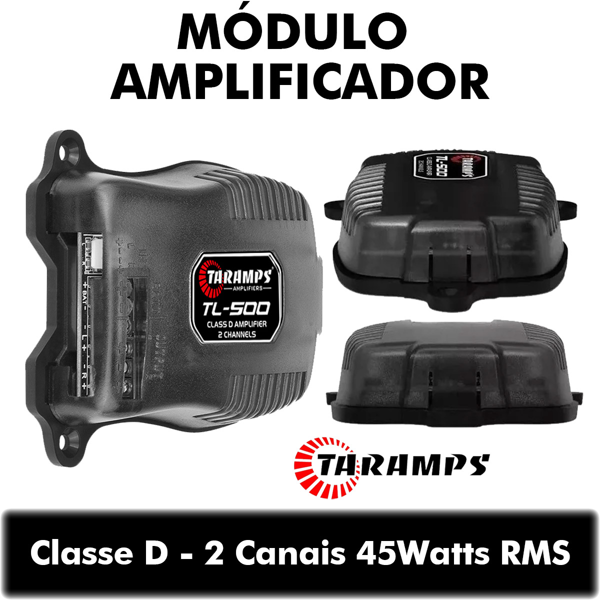 Amplificador Taramps TL-500 90Watts RMS Som Automotivo Poliparts