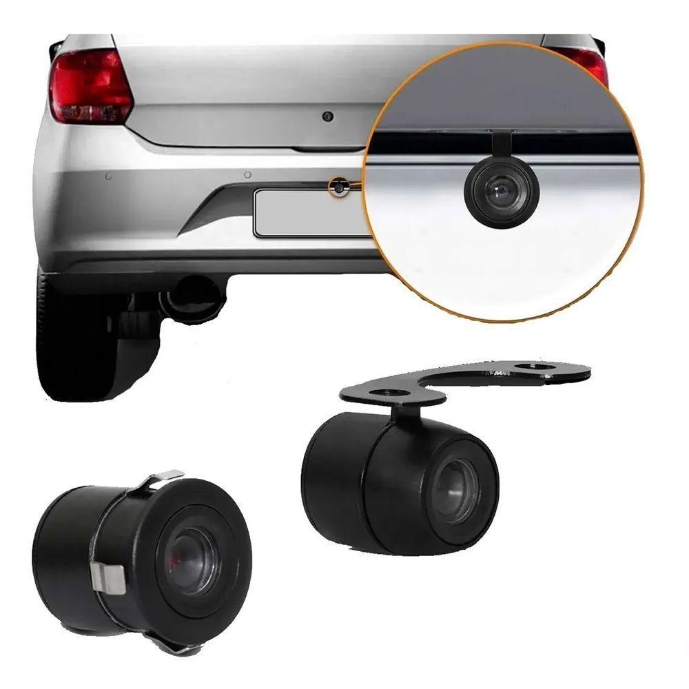 Câmera de Ré Automotiva Borboleta Visão Noturna Colorida Universal Poliparts
