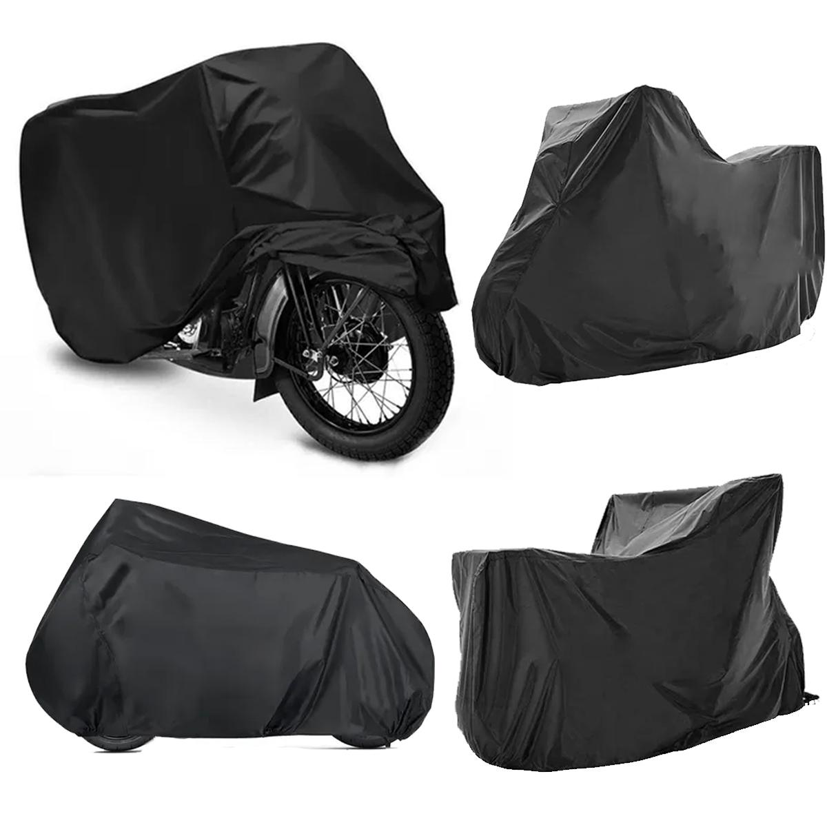 Capa de Moto Forrada Anti-UV Proteção Contra Chuva Vento Poeira Tamanho G Poliparts