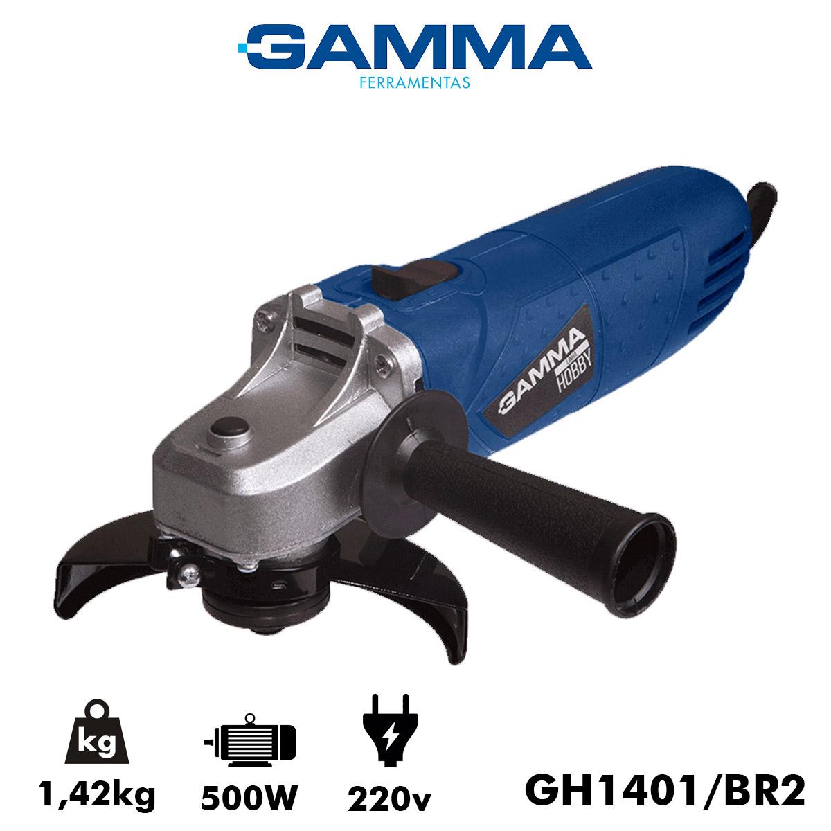 "Esmerilhadeira Gamma Angular Hobby 4.1/2"" 500 Watts 220v Poliparts"