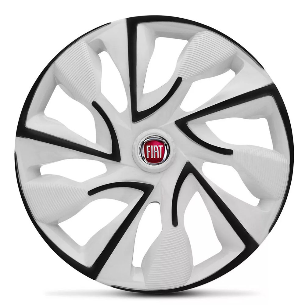 Jogo de Calotas Fiat DS4 Branco Aro 14 Universal Poliparts