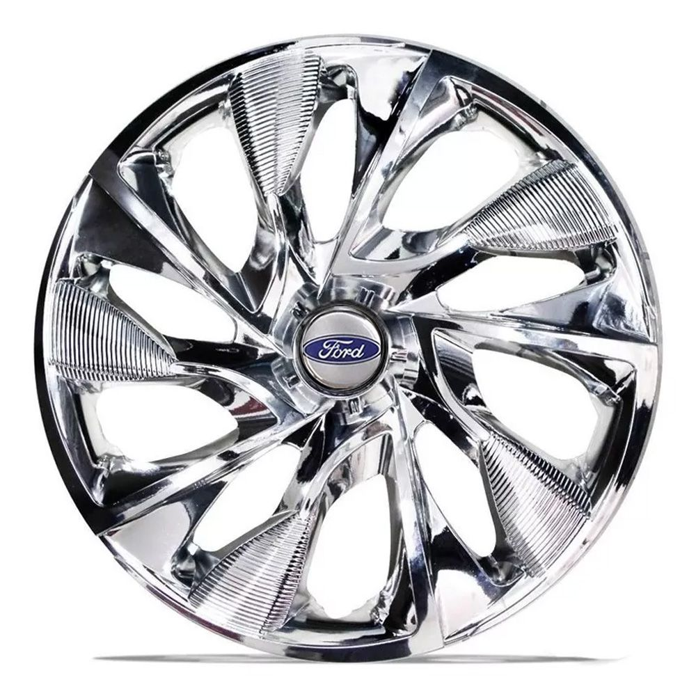 Jogo de Calotas Ford DS4 Sport Cromado Aro 15 Universal Poliparts