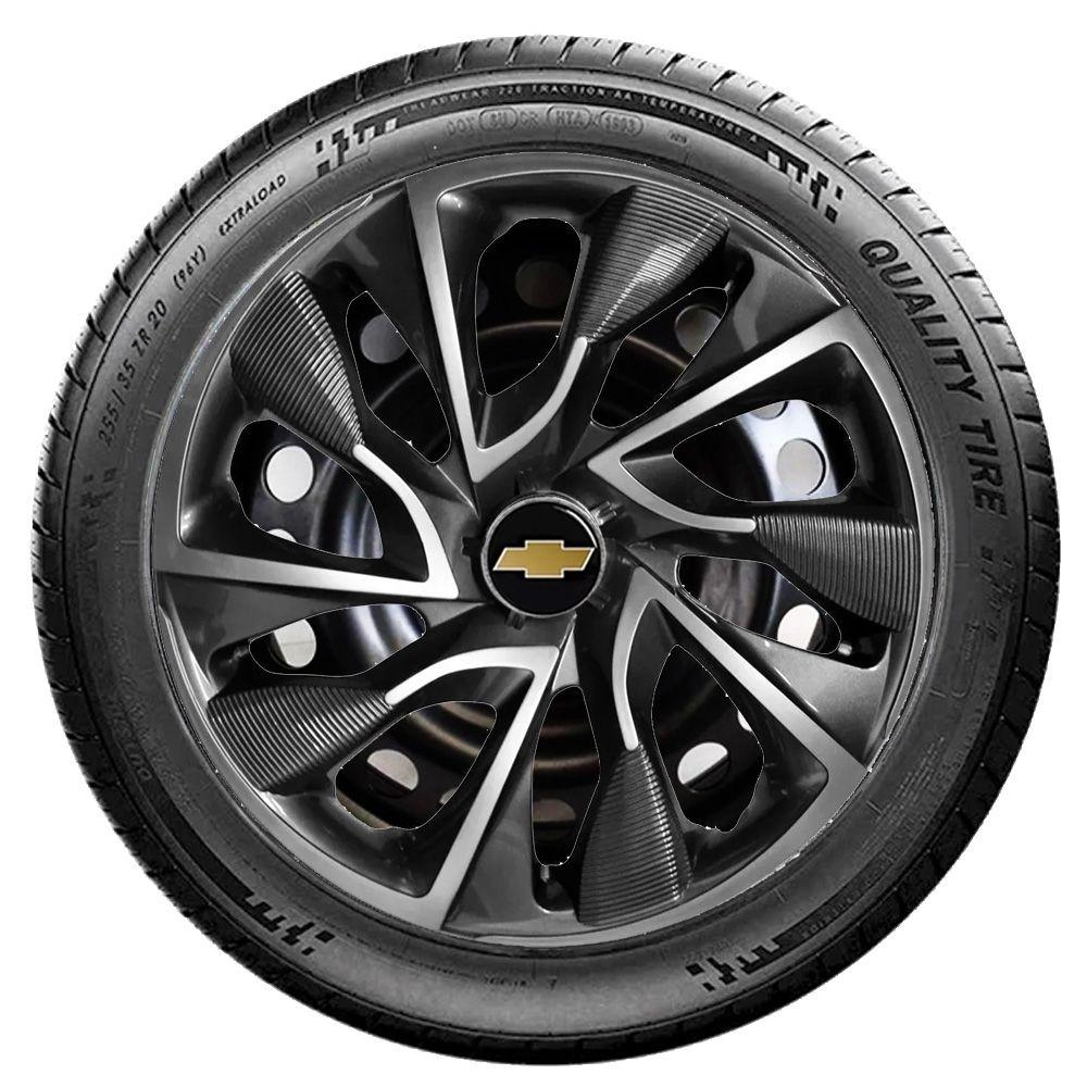 Jogo de Calotas Chevrolet DS4 Sport Grafite Aro 15 Universal Poliparts