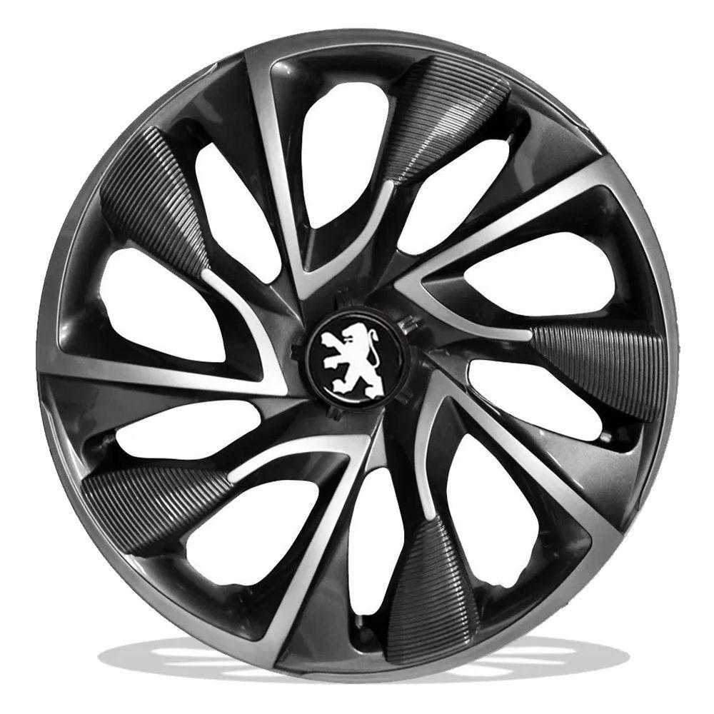 Jogo 4 Calota DS4 Sport Cup Aro 15 Rodas Peugeot 4x100 / 4x108 / 5x100 Universal