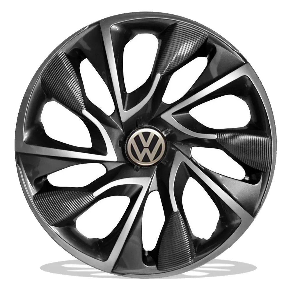 Jogo 4 Calota DS4 Sport Cup Aro 15 Rodas Volkswagen 4x100 / 4x108 / 5x100 Universal Vw