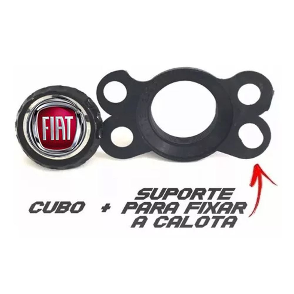 Jogo de Calotas Fiat Prime Preto Aro 14 Universal Poliparts