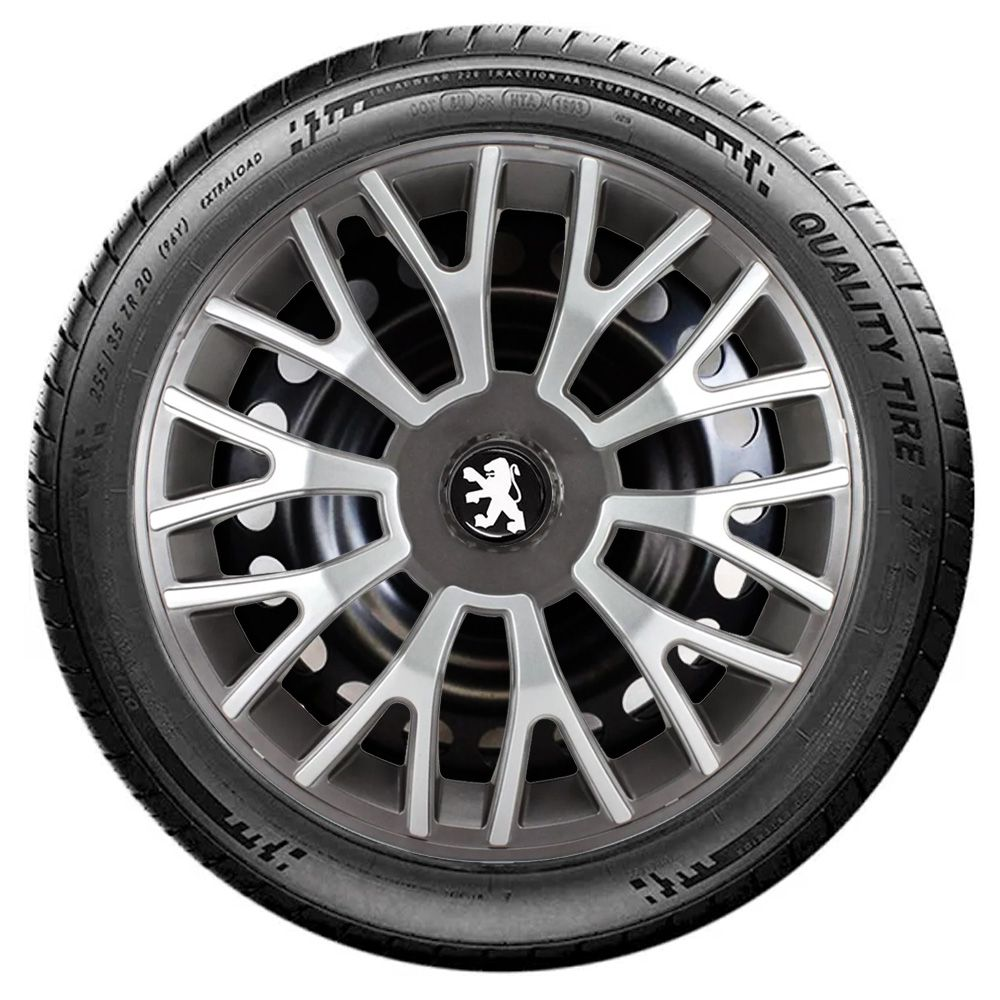 Jogo de Calotas Peugeot Triton Sport Grafite e Prata Aro 14 Universal Poliparts