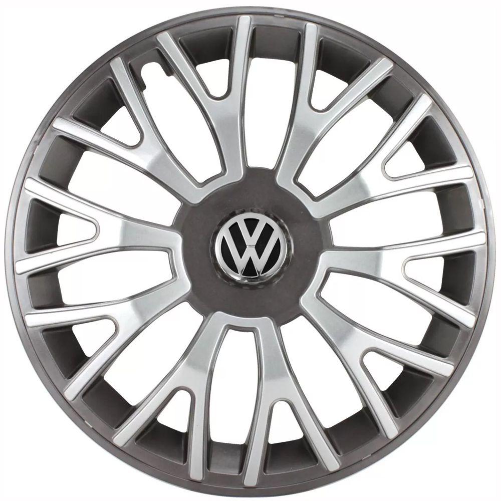 Jogo de Calotas Volkswagen Triton Sport Grafite e Prata Aro 14 Universal Poliparts