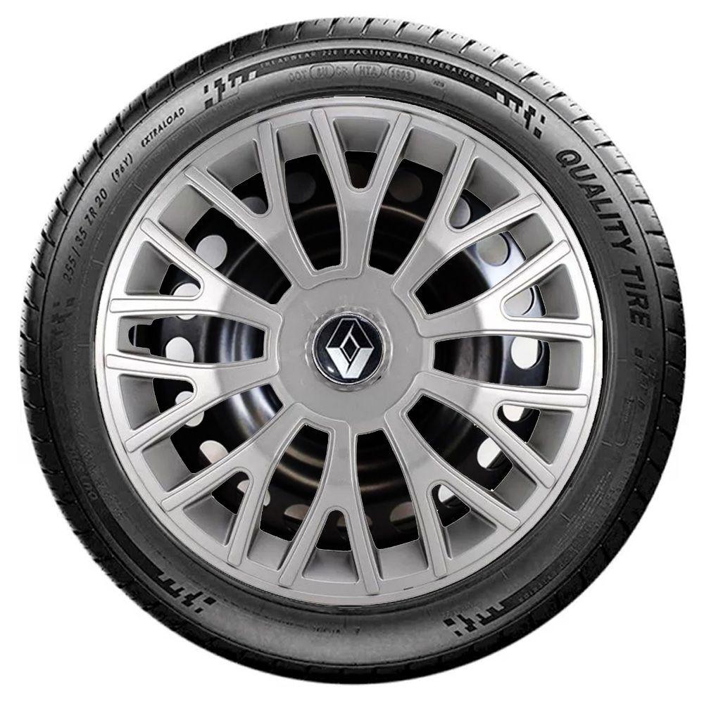 Jogo de Calotas Renault Triton Sport Prata Aro 14 Universal Poliparts