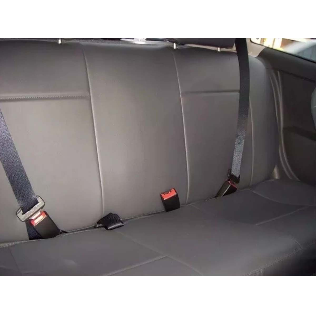 Jogo de Capas de Banco em Couro Sintético para Peugeot 106 206 306 Sw Universal Preto