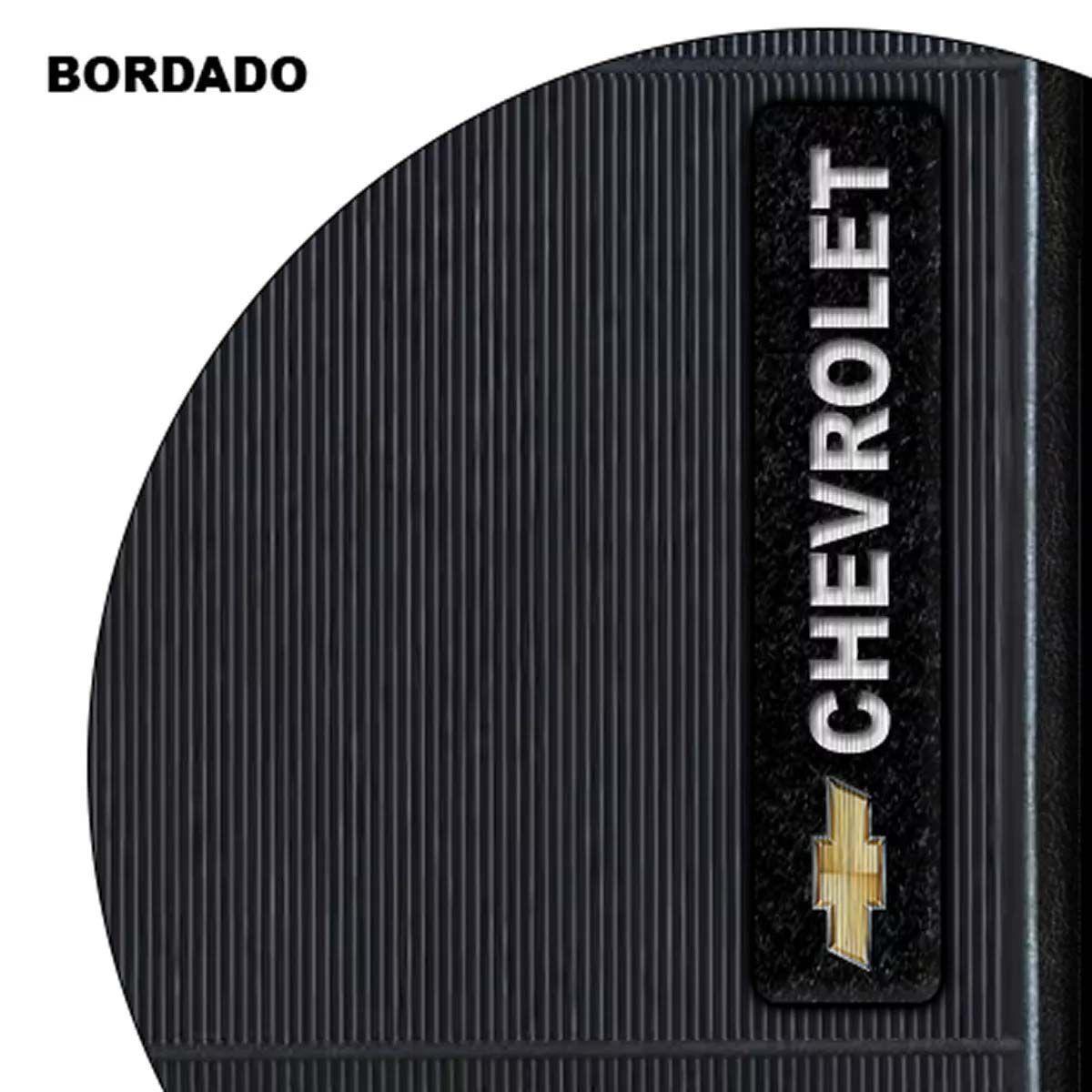 Jogo de Tapete Automotivo para Todos Carros Chevrolet Emborrachado Preto Antiderrapante Impermeável Universal com Logo Bordado e Personalizado Gm