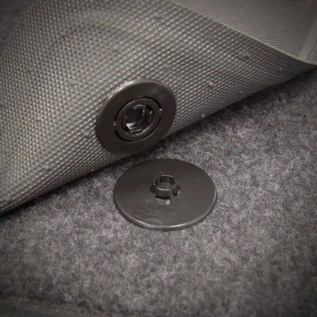 Jogo de Tapete Carpete Uno Automotivo Bordado Fiat Logo Azul Preto Personalizado