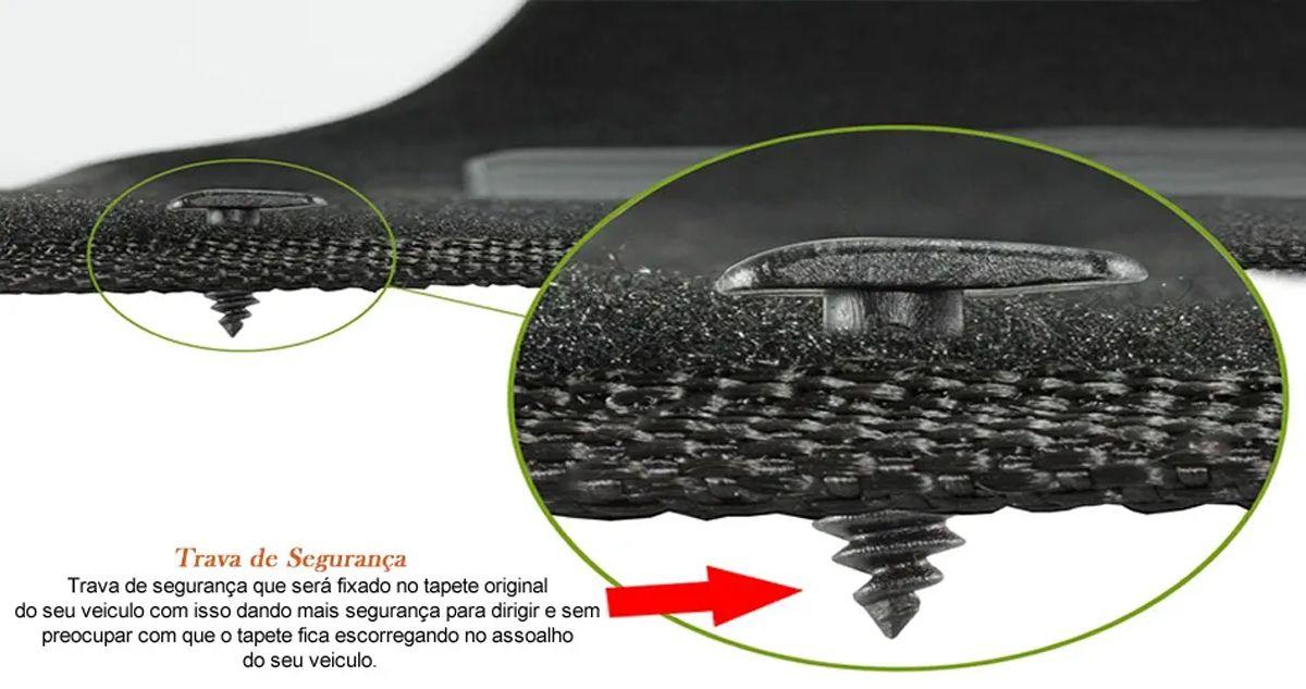 Tapete Carpete Chevrolet Onix Preto Logo Bordado Personalizado Poliparts