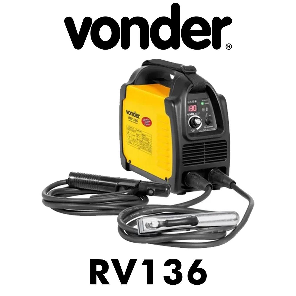 Máquina de Solda Inversora com Eletrodo Vonder RIV136 Bivolt Display Digital Poliparts