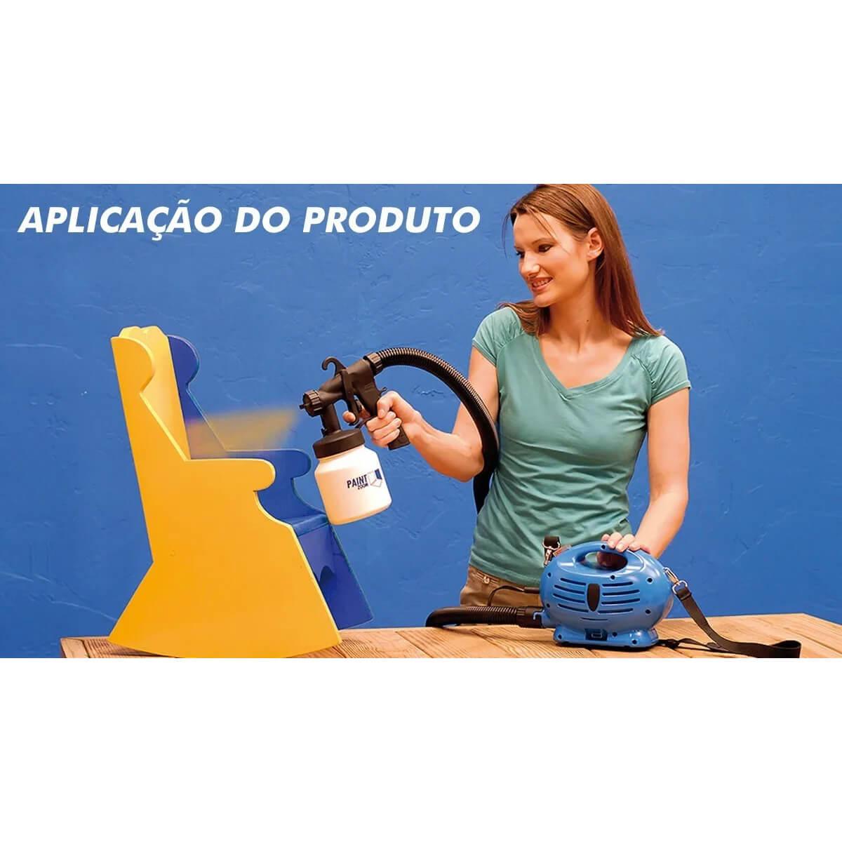 Pistola de Pintura Elétrica Mangueira com Compressor 110v Poliparts