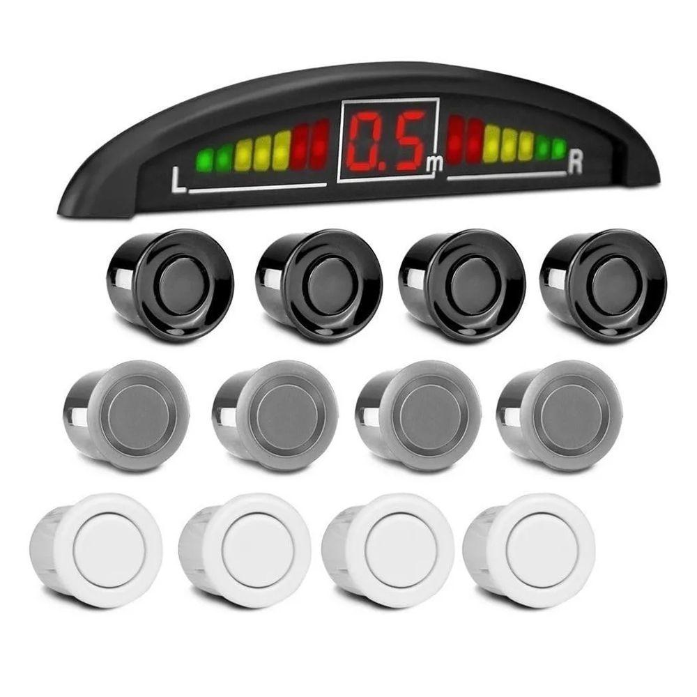 Sensor Estacionamento Ré 4 Sensores Sinal Sonoro Display Led