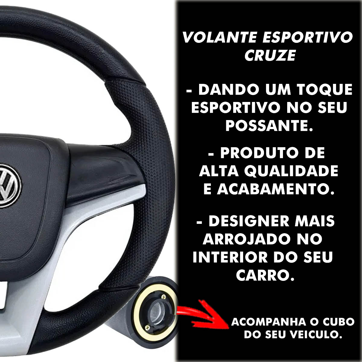Volante Chevrolet Cruze Esportivo Cubo Atacado Poliparts