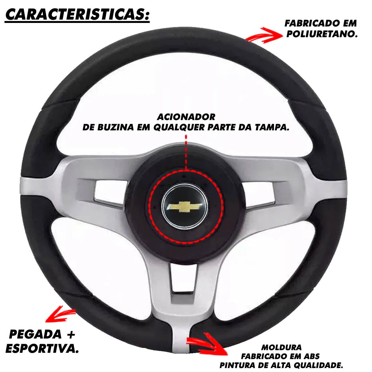 Volante Chevrolet do Mustang Esportivo Cubo Vectra Astra 1993 a 2011 Meriva Zafira 2000 a 2012 Poliparts
