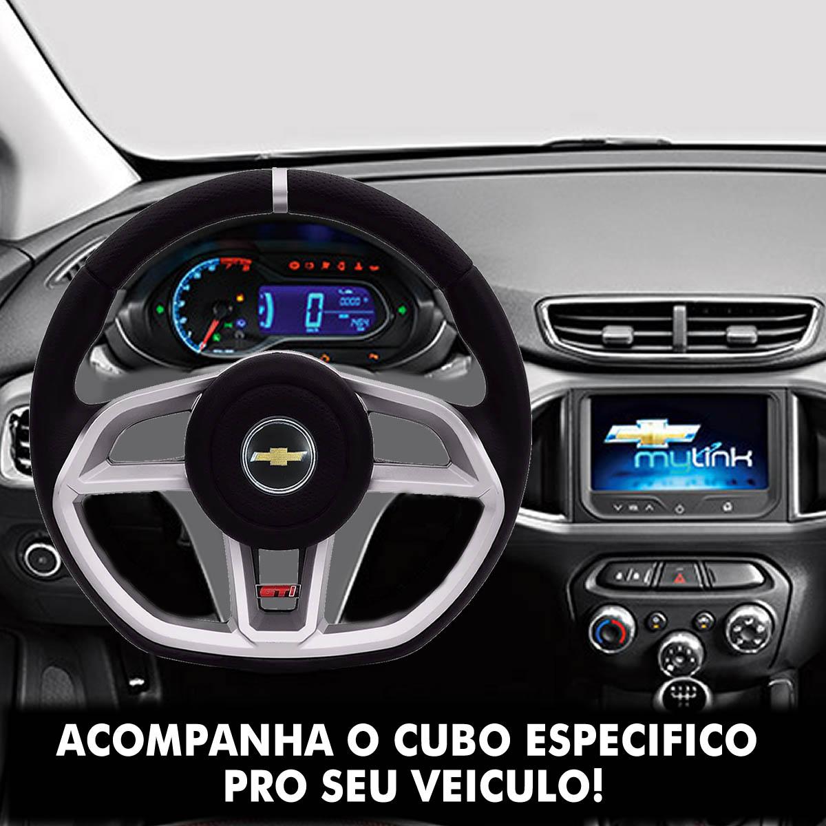 Volante Chevrolet Gti Esportivo Cubo S10 Blazer Silverado 1995 a 2013 Opala Chevette 1968 a 1998 Poliparts