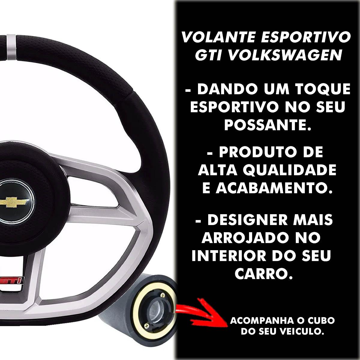 Volante Chevrolet Gti Esportivo Cubo Vectra Astra 1993 a 2011 Meriva Zafira 2000 a 2012 Poliparts
