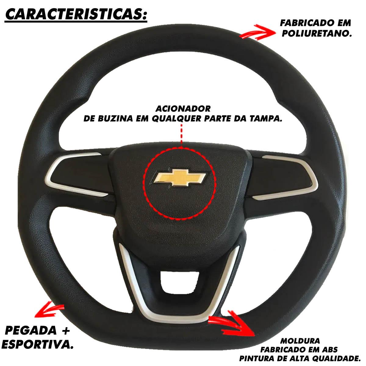 Volante Chevrolet Nova Montana Esportivo Cubo Corsa Classic Wind Premium Max Joy 1994 a 2013 Poliparts