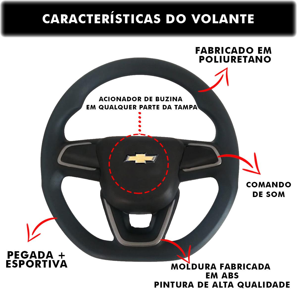Volante Chevrolet Nova Montana Esportivo Cubo S10 Blazer Silverado 1995 a 2013 Opala Chevette 1968 a 1998 Poliparts