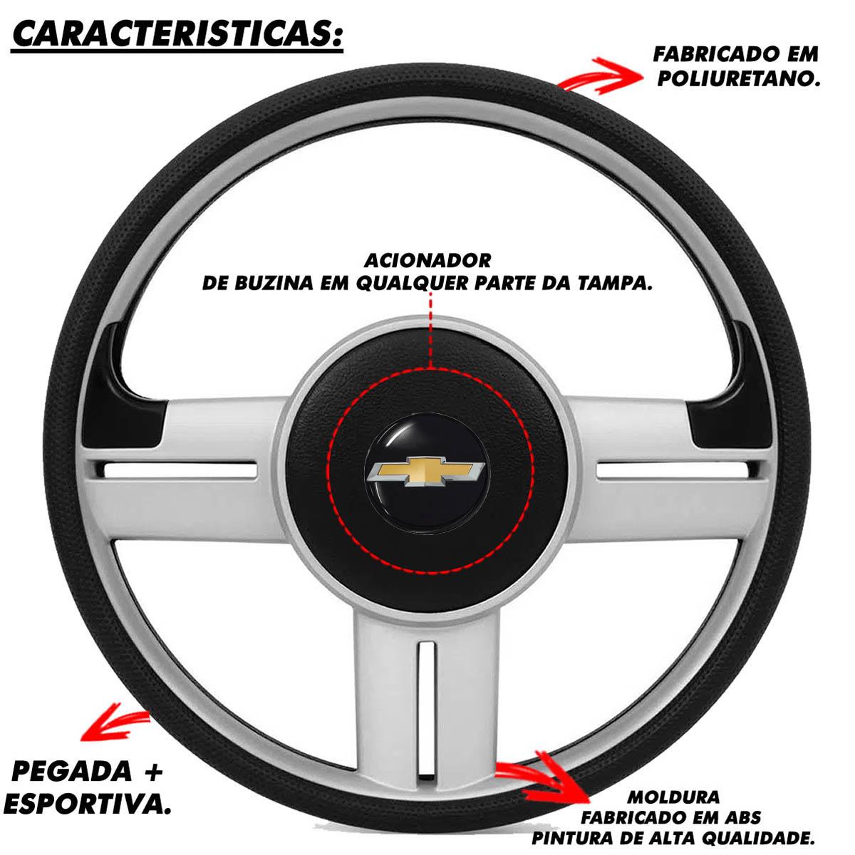 Volante Chevrolet Surf Rallye Esportivo do Vectra Astra 1993 a 2011 Meriva Zafira 2000 a 2013 Poliparts