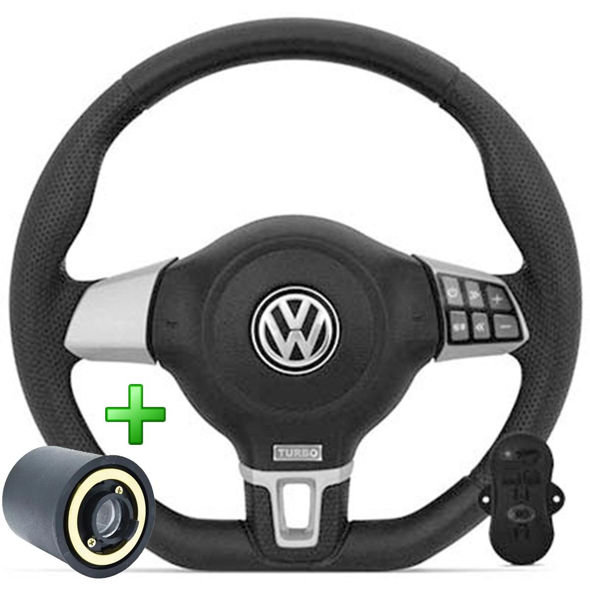 Volante Com Comando Volkswagen Jetta Base Reta Esportivo Cubo Golf Saveiro Parati Poliparts