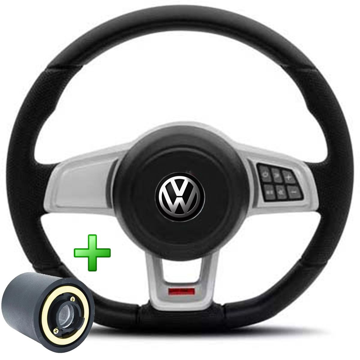 Volante Com Comando Volkswagen Mk7 Esportivo Cubo Golf Saveiro Voyage Parati Poliparts