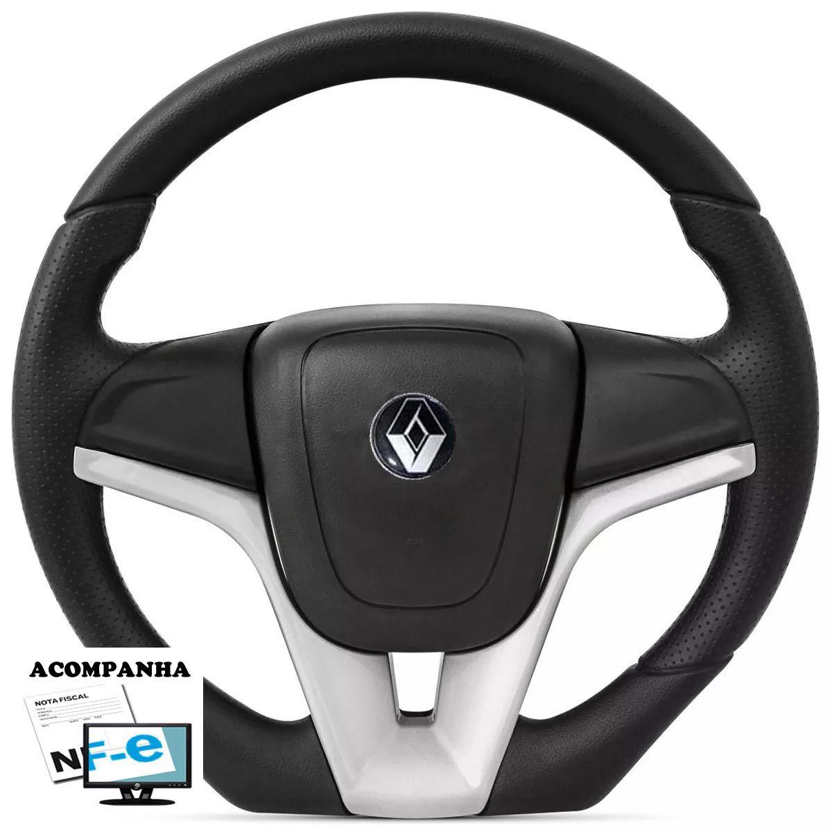 Volante Esportivo Camaro Renault Clio Logan Sandero Acionador de Buzina + Cubo