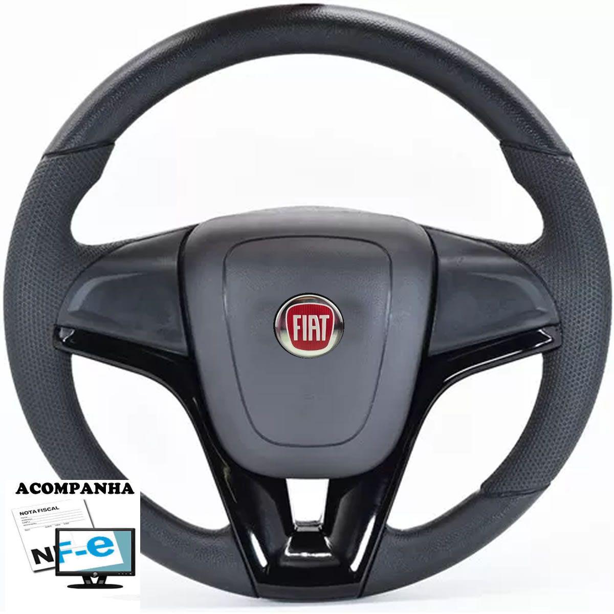 Volante Esportivo Cruze Palio Strada Uno Mille Smart Way Vivace Elba Premio Tempra Fiorino Stilo Punto Marea Fiat 147 Tampa Acionador de Buzina + Cubo