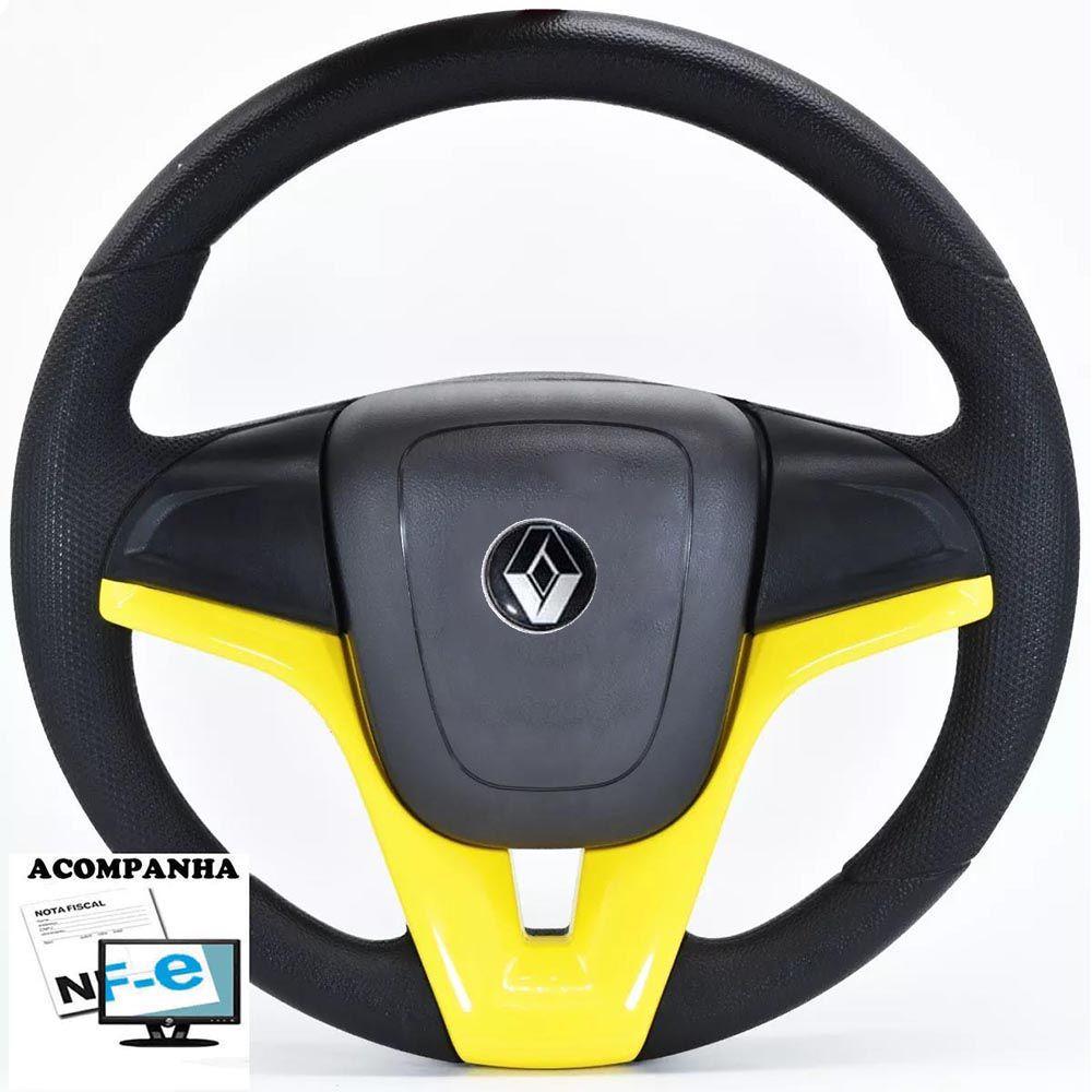Volante Esportivo Cruze Renault Clio Logan Sandero Acionador de Buzina + Cubo