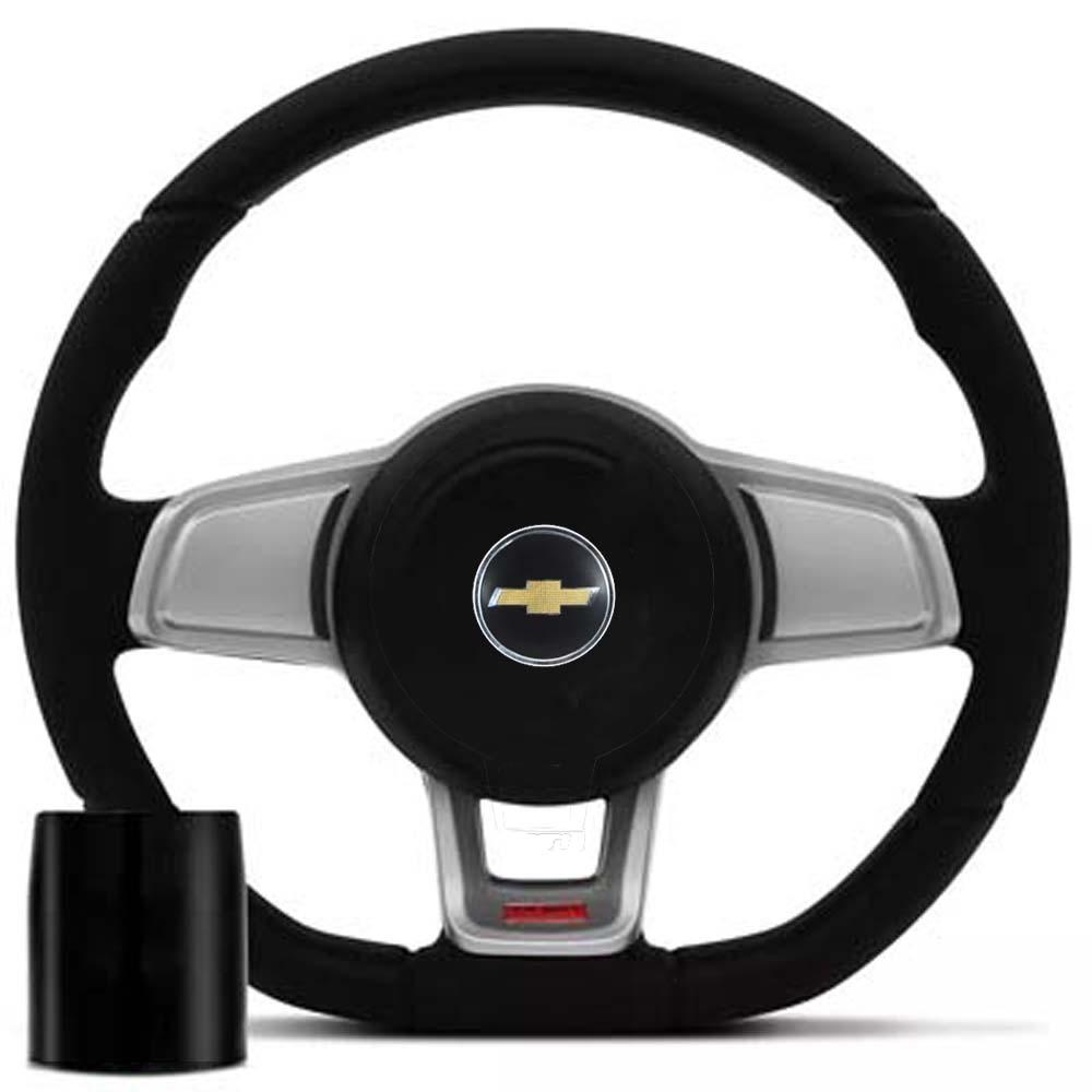 Volante Chevrolet Mk7 Esportivo Cubo S10 Blazer Silverado 1995 a 2013 Opala Chevette 1968 a 1998 Poliparts