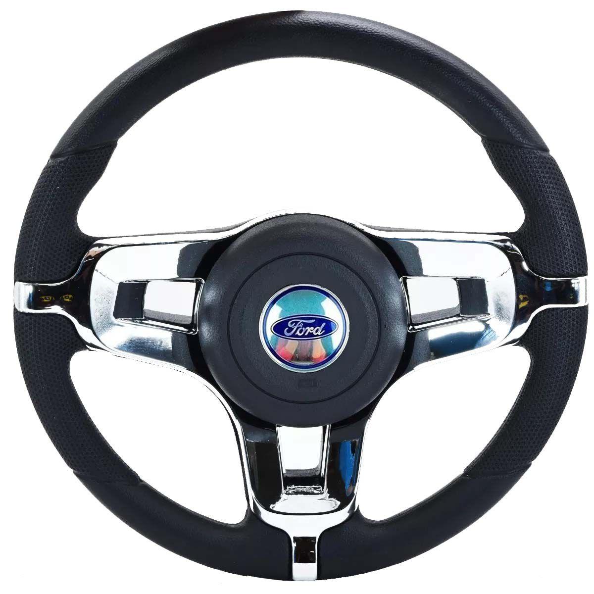 Volante Esportivo Mustang Ford Ka Fiesta Escort Zetec Hobby Pampa F100 F1000 F75 F250 Verona Del Rey Belina Ecosport Logus Acionador de Buzia + Cubo