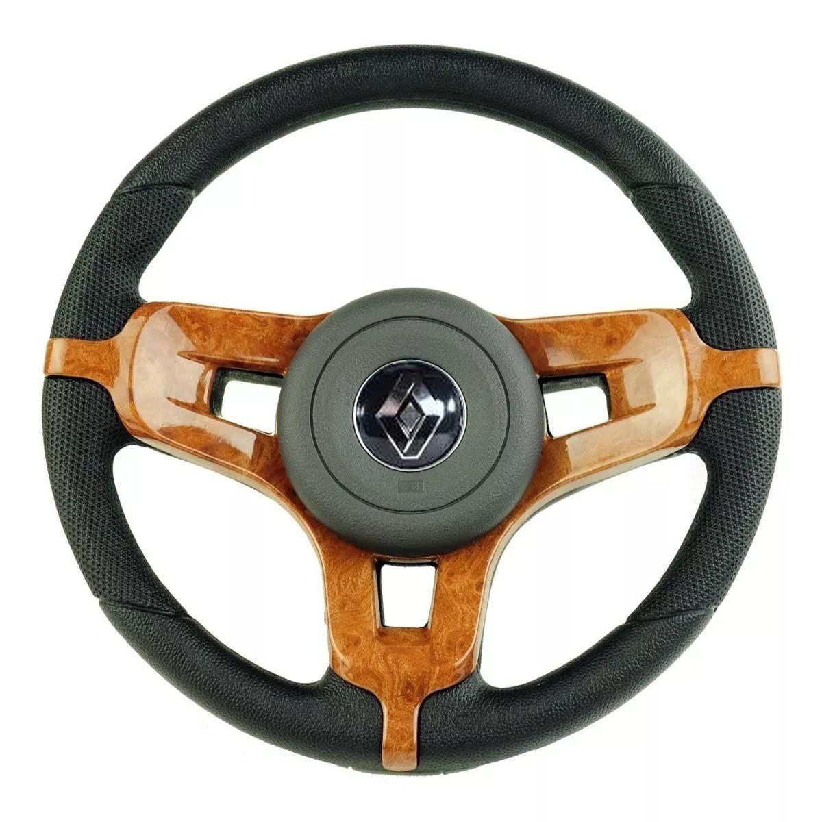 Volante Esportivo Mustang Renault Clio Logan Sandero Acionador de Buzina + Cubo