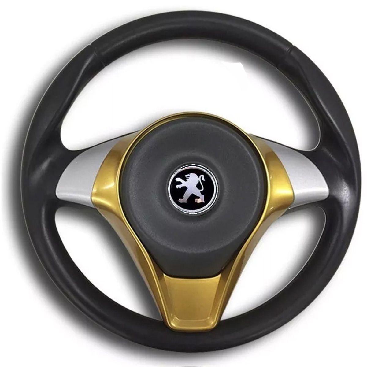 Volante Esportivo Palio Sporting Peugeot 106 206 207 306 Sw Acionador de Buzina + Cubo