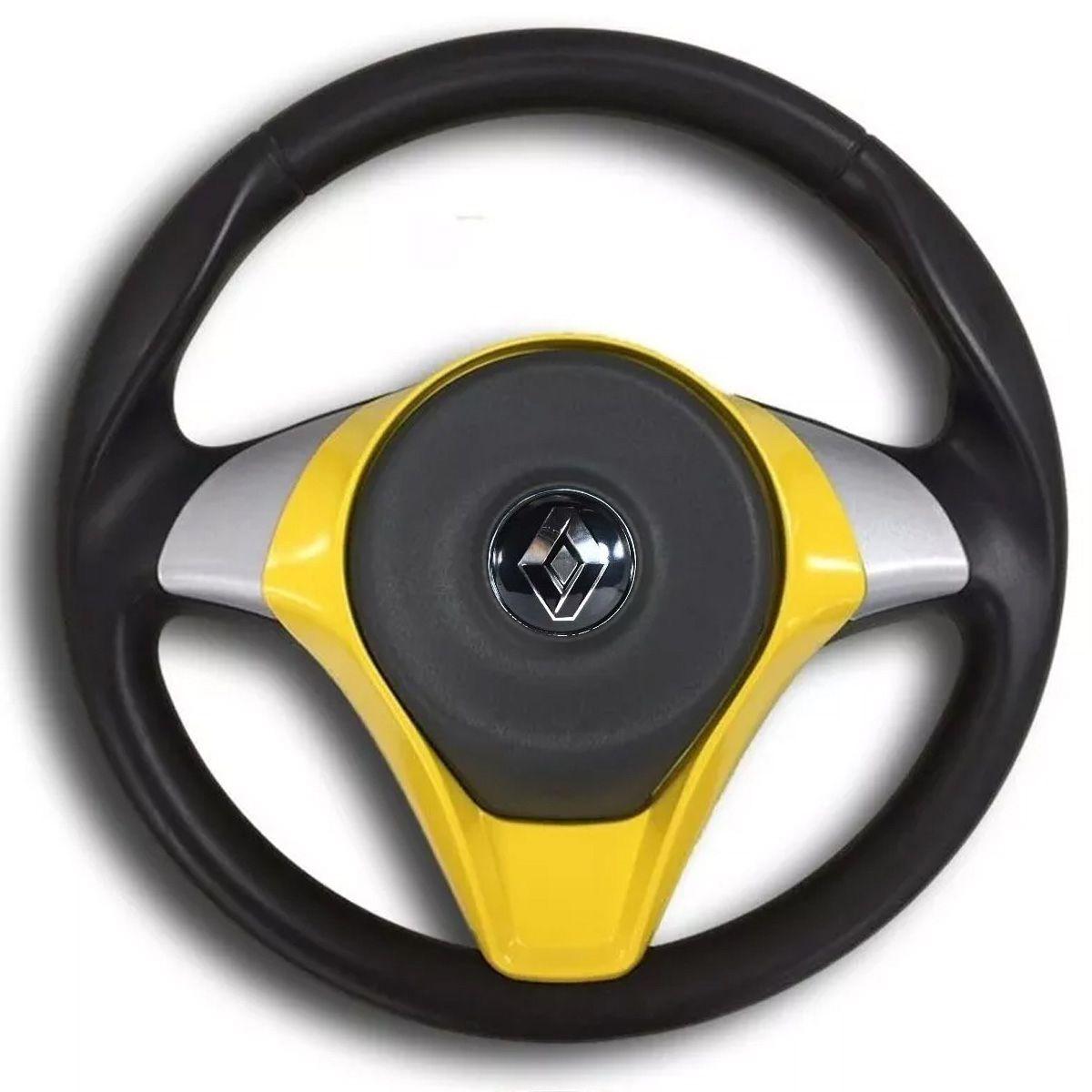 Volante Esportivo Palio Sporting Renault Clio Logan Sandero Tampa Acionador de Buzina + Cubo